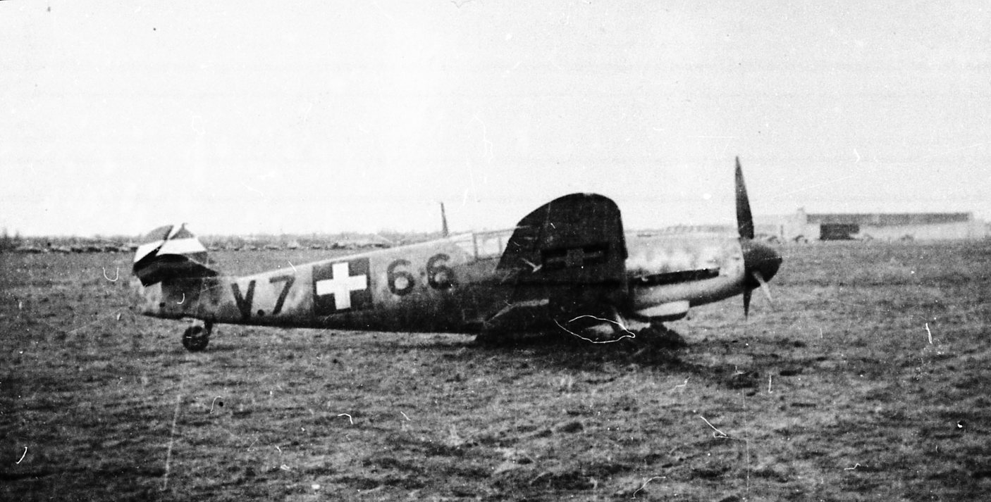 Hasraszállt magyar gyártású Messerschmitt Bf 109G (archív fotók: Punka György gyűjteményéből)