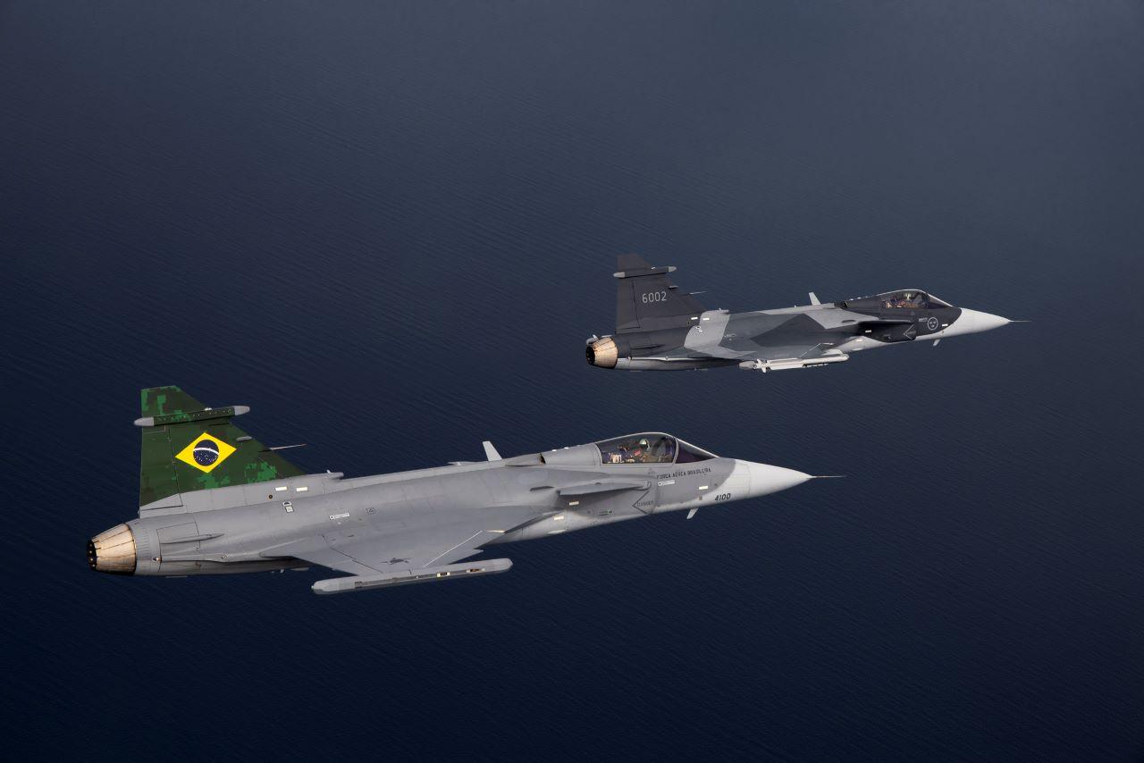 Brazil és svéd  Gripen-E (fotó: Saab)