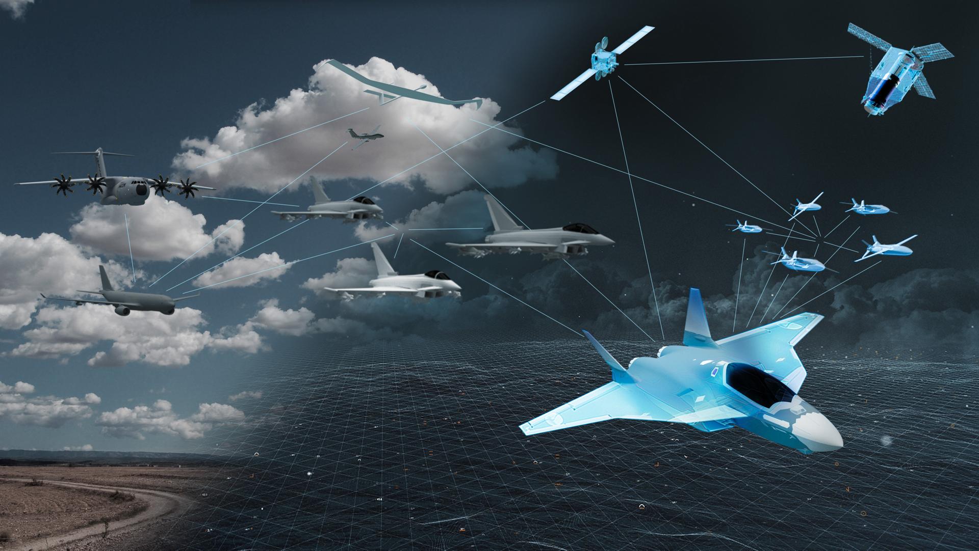 FCAS: a hálózati hadviselés jövője (illusztráció: Airbus)