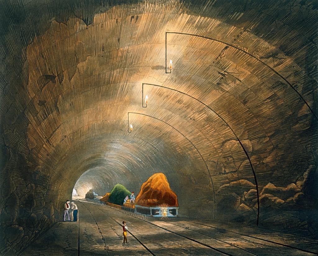 A Liverpool és Manchester közötti távolságot áthidaló vaspálya alagútja a Mersey-parti kikötőváros közelében