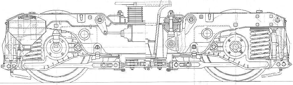 A V46 forgóváz oldalnézeti és részmetszeti képe
