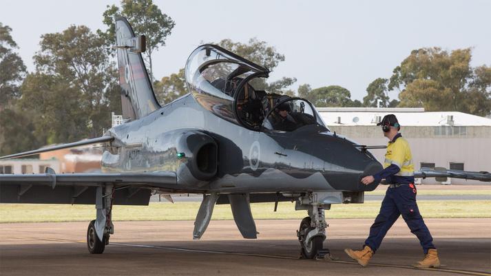 Az ausztrálok egyik gépe (fotók: BAe Systems)