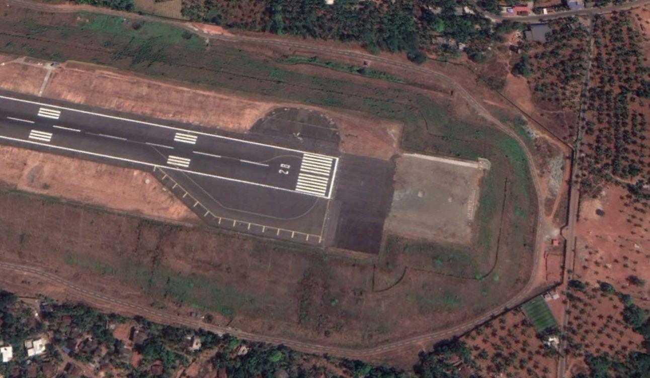 A helyszín a Google Earth műholdképén