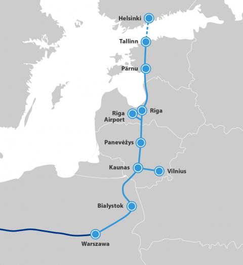 A Rail Baltica nagysebességű vasúttal köti majd össze a Baltikumot Közép-Európa északi részével és Nyugat-Európával (kép forrása: Rail Freight)