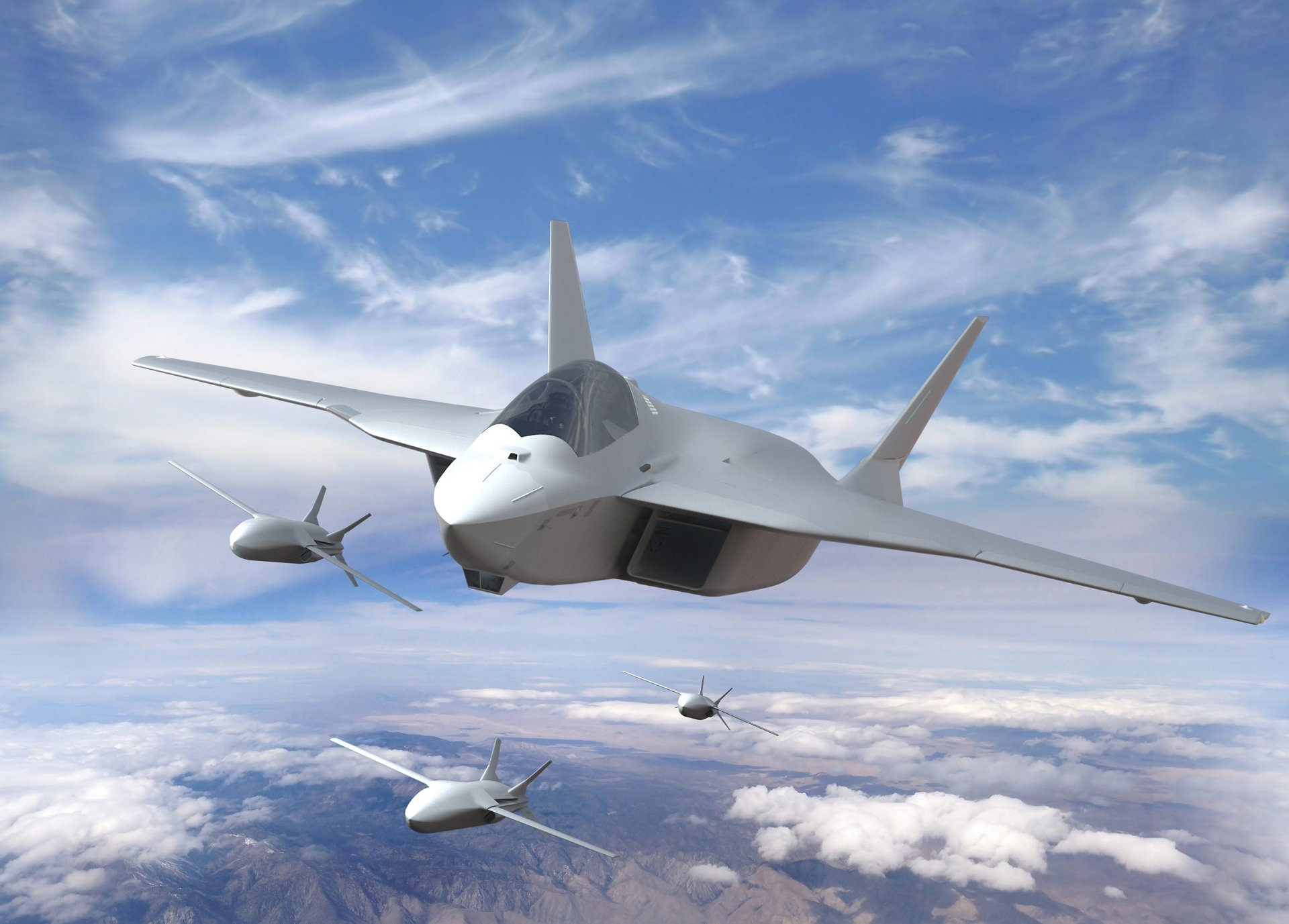 A jövendő 6. generációs európai harcigép (fotó: Airbus)