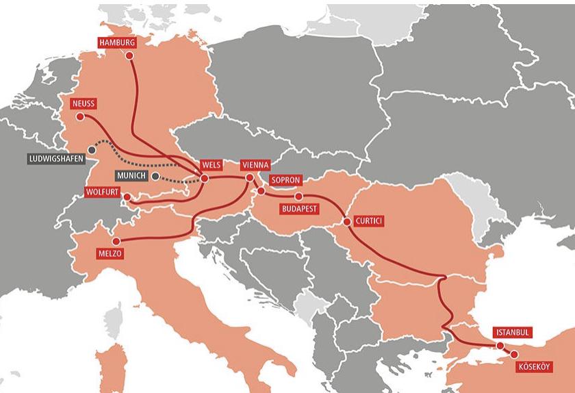 A Hupac (nyitókép) és a Rail Cargo Group is kiterjedt európai hálózattal rendelkezik a törökországi fuvarok számára (képek forrása: Rail Freight)