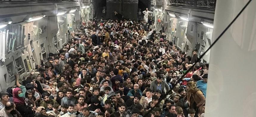 Tele a C-17-es (Fotó: Twitter)