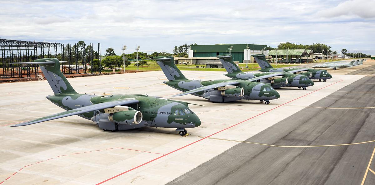A brazil légierő négy gépe (fotók: FAB)
