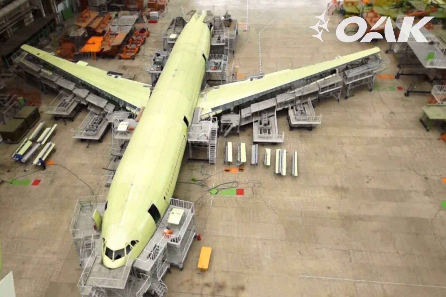 Voronyezs: lassan szerkezetkész az egyik gép (fotó: Iljusin)