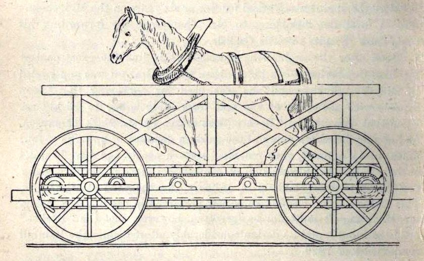 A rainhilli mozdonytender egyik résztvevője, a Cycloped. Szegény ló teljesen esélytelen volt a gőzgép hajtotta masinák ellen, bár tegyük hozzá, a Perseverance sem érte el a minimálisan megkövetelt tempót, mindössze hat kilométer per órás sebességre volt képes