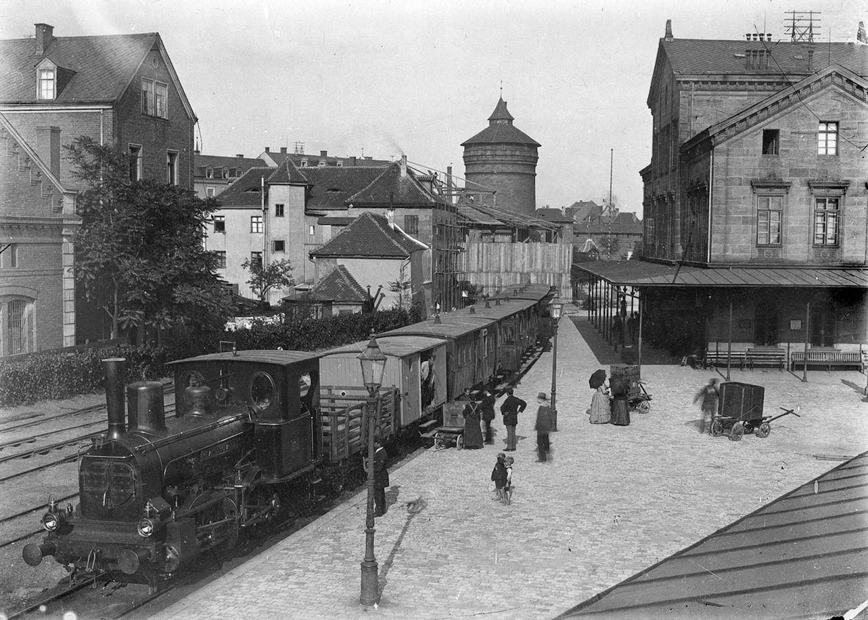 A nürnbergi Ludwigsbahnhof 1870-ben