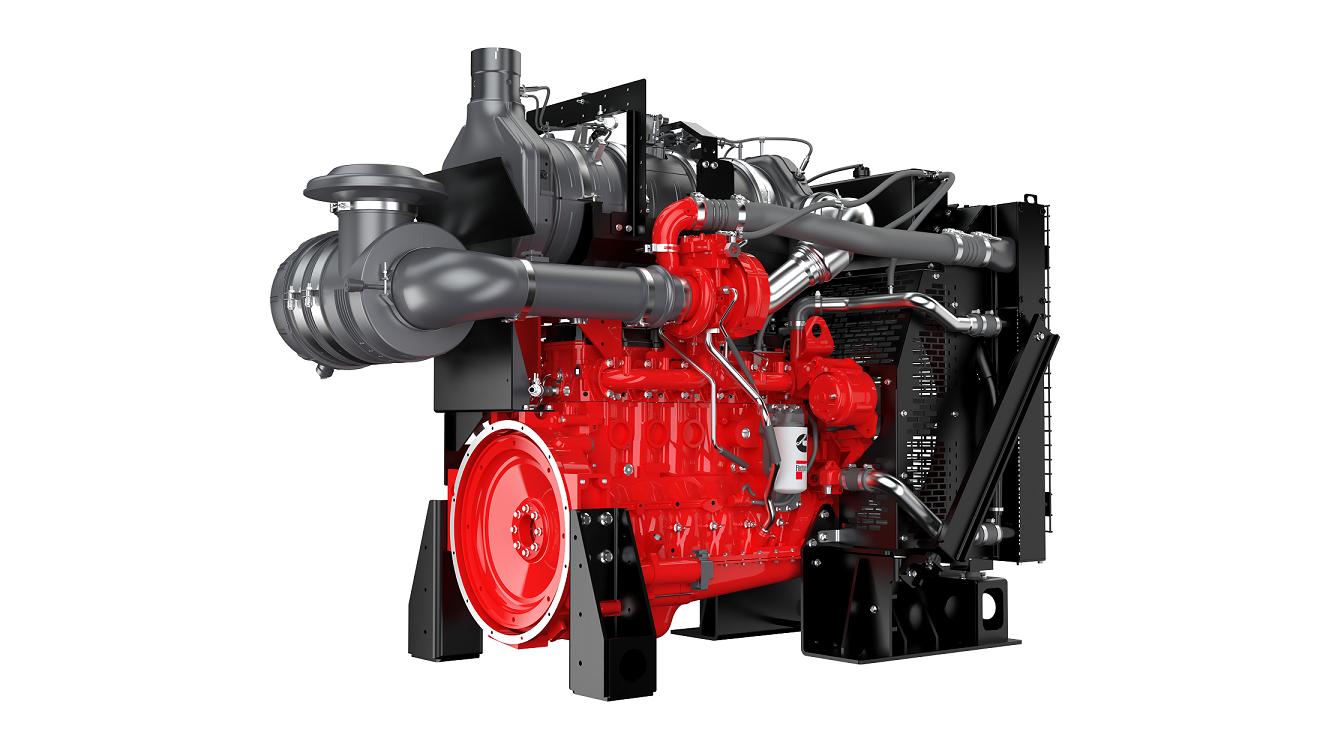 Az első hidrogéngáz üzemű Cummins motor az ISB6.7. Jól megfigyelhető a sepciális szívócső- és keverékképző rendszer