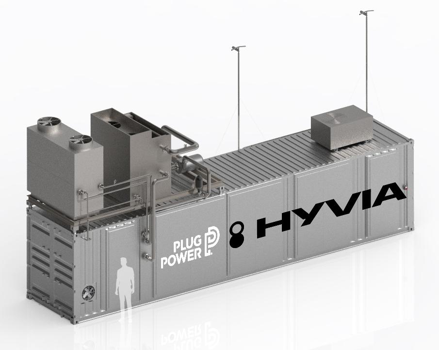 A Plug Power hidrogénelőállító egysége, ami egy 40 lábas konténer méreteihez hasonló