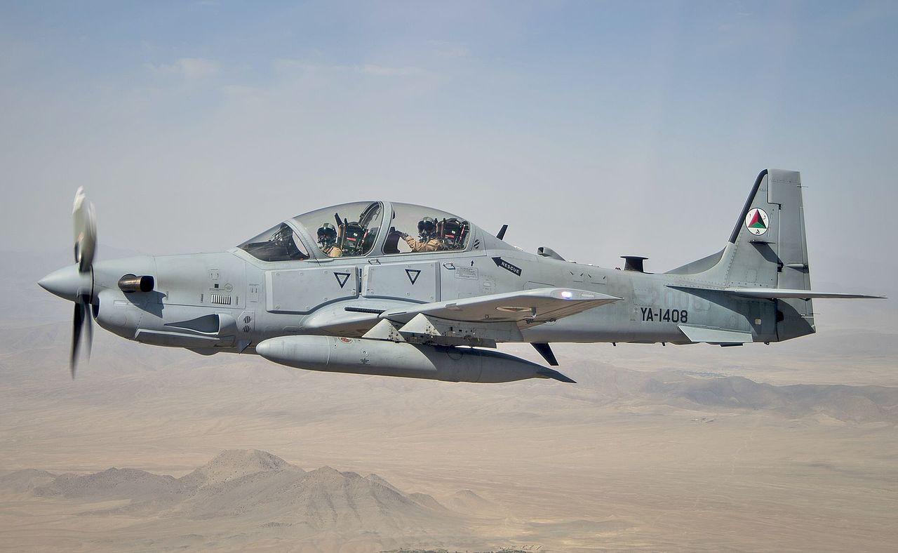 Afgán Super Tucano (fotó: US Air Force)