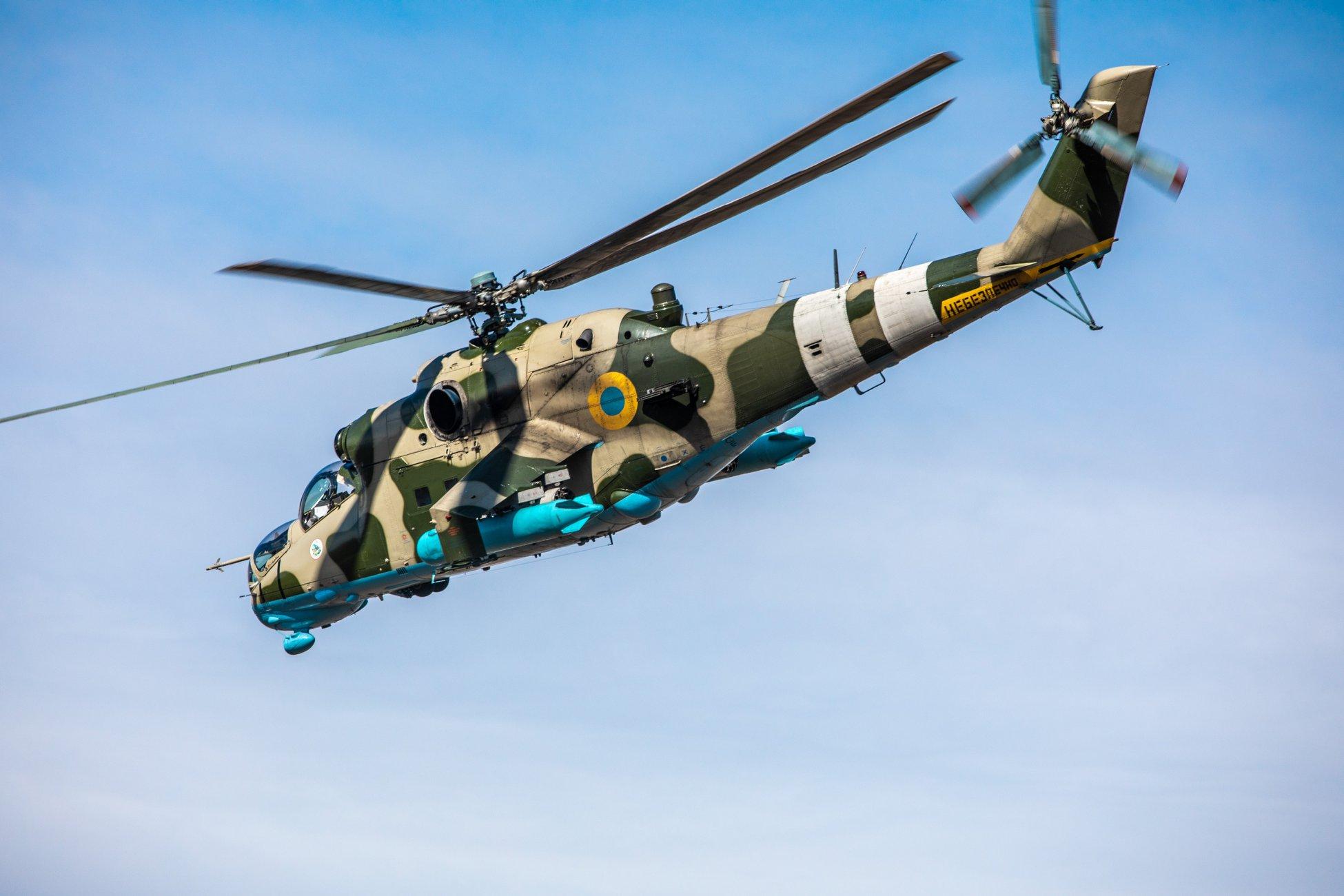 Mi-24-esek a földi erők támogatására