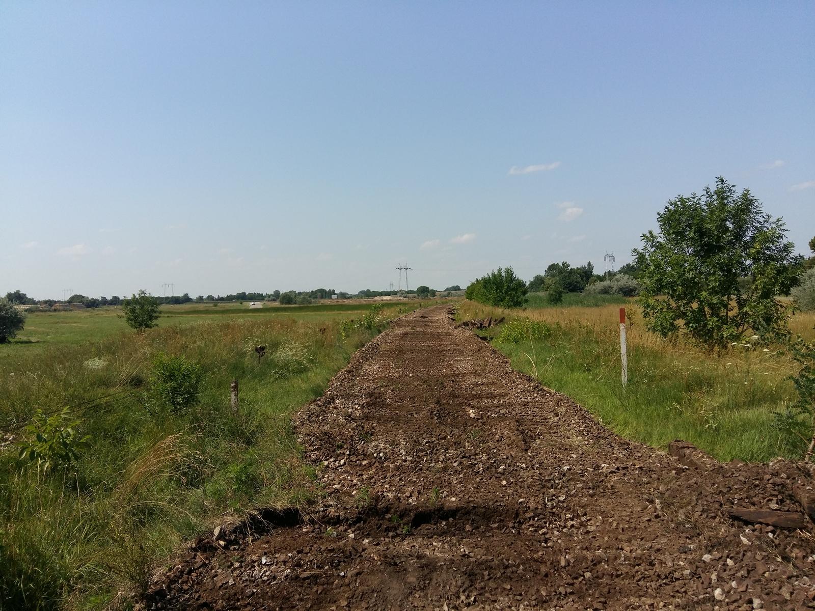 Az RZD International tempósan bontja a régi, rossz állapotú pályát a szerb–magyar határtól Szabadka felé (a szerző felvételei)