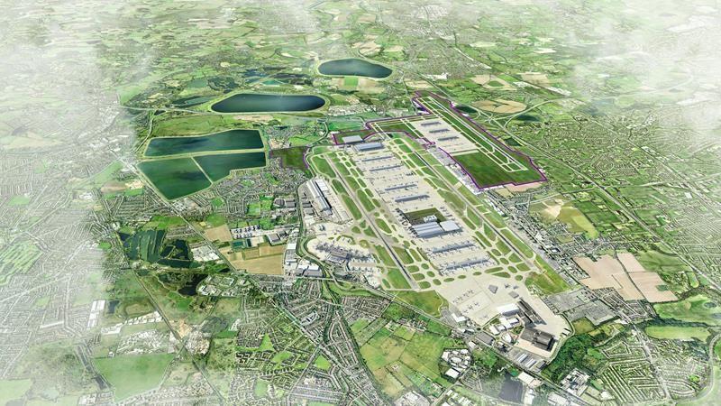 Ilyen lesz Heathrow a főként felszállásra használatos új betonnal