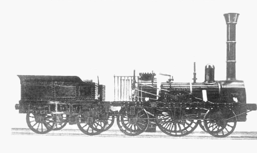 A németek legendás, 1A1 tengelyképletű Adler gőzösét Robert Stephenson newcastle-i mozdonygyárában építették