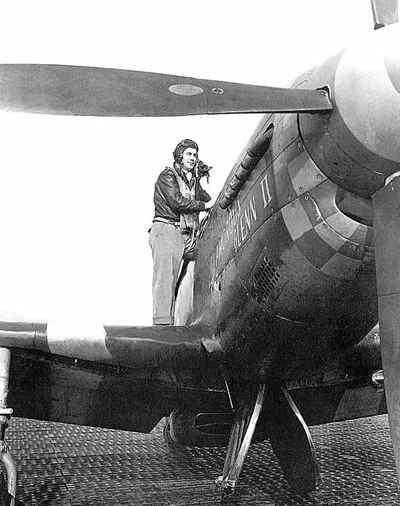 A nyugati hadszíntér egyik ásza, és a P-51-es